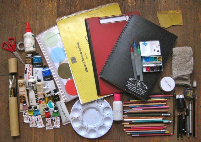 Art Journal Drawings my Art Kit1