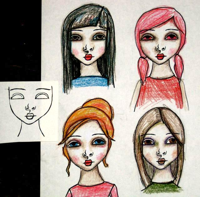 Girl stamp1
