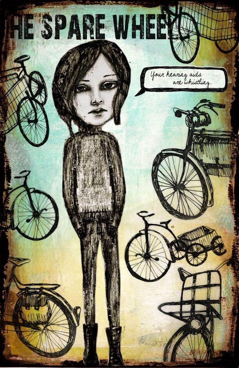 Marley in the bike shop