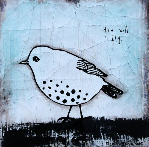 You will fly bird - white-2